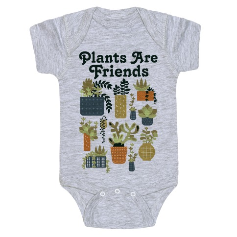 Plants Are Friends Retro Baby Onesy