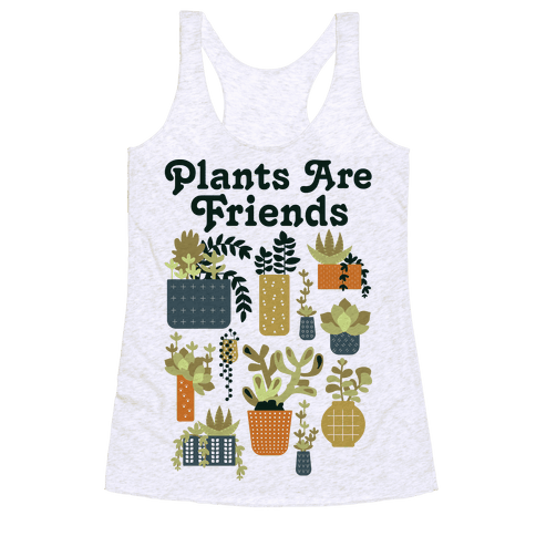 Plants Are Friends Retro Racerback Tank Top