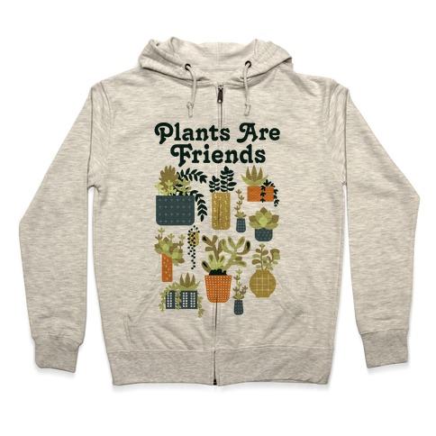 Plants Are Friends Retro Zip Hoodie