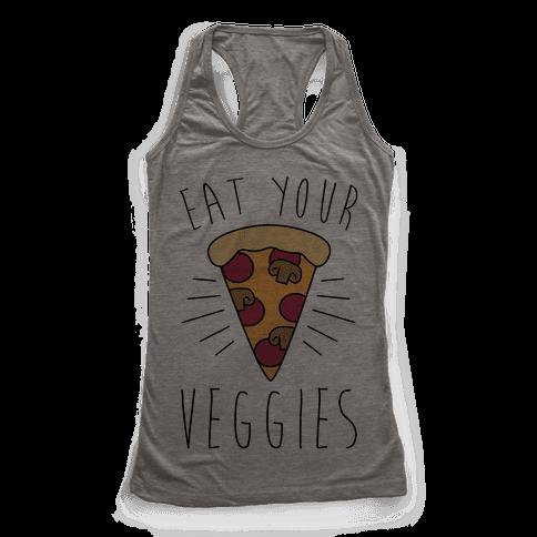 Eat Your Veggies (Pizza) Racerback Tank Top
