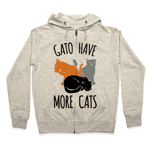 Gato Have More Cats Zip Hoodie