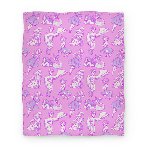 Pastel Monster Girls Blanket