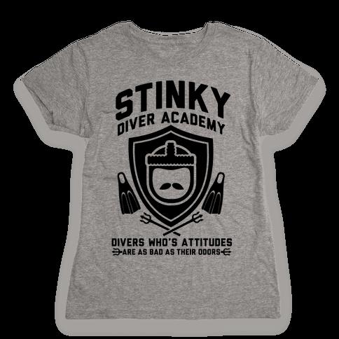 Stinky Diver Academy Womens T-Shirt