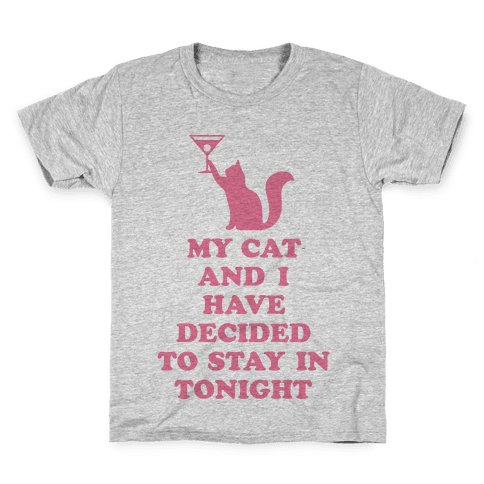 My Cat And I Kids T-Shirt