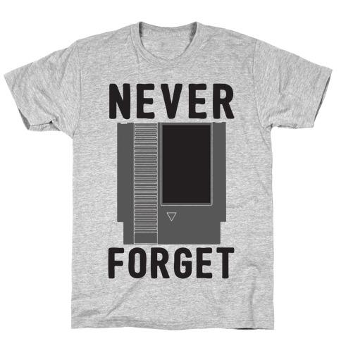 NES: Never Forget Mens T-Shirt