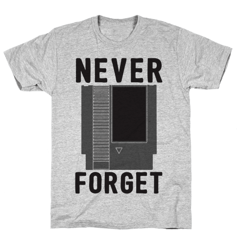 NES: Never Forget Mens T-Shirt