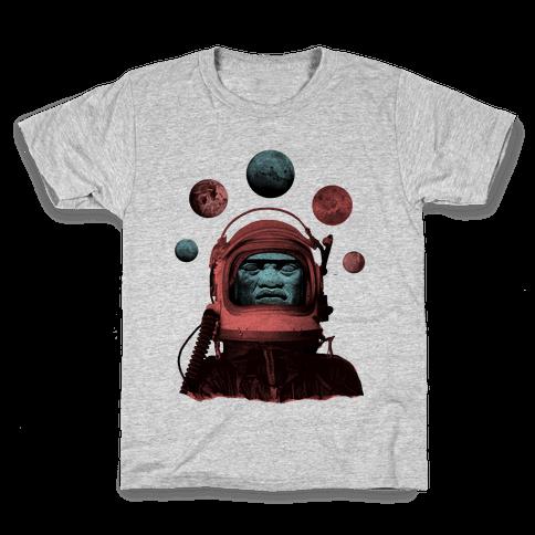 Space Olmec Kids T-Shirt