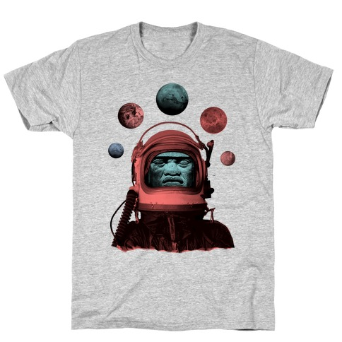 Space Olmec Mens T-Shirt