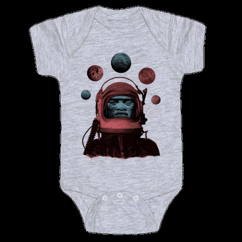 Space Olmec Baby Onesy