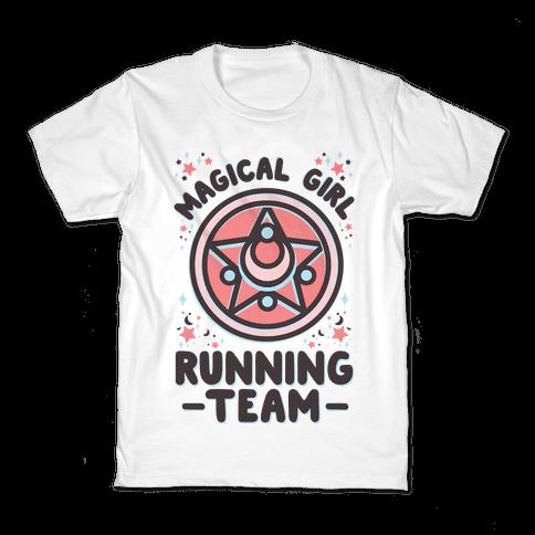 Magical Girl Running Team Kids T-Shirt