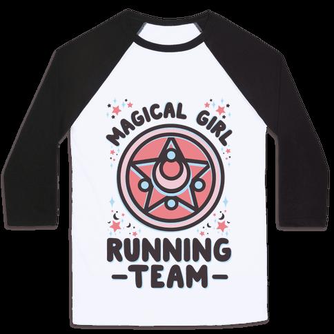 Magical Girl Running Team Baseball Tee