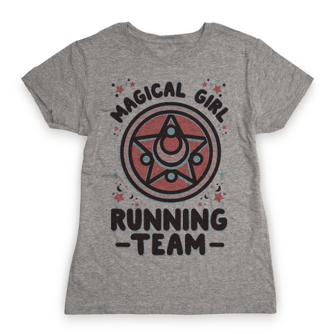 Magical Girl Running Team Womens T-Shirt
