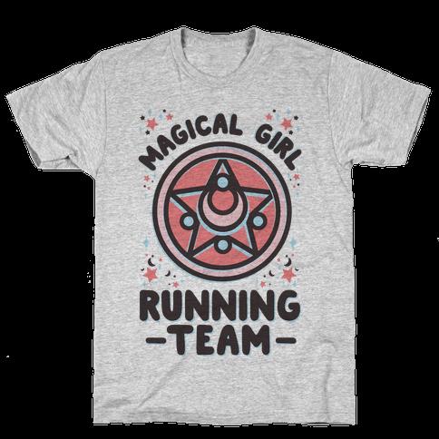 Magical Girl Running Team Mens T-Shirt