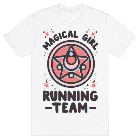 Magical Girl Running Team Mens T-Shirt