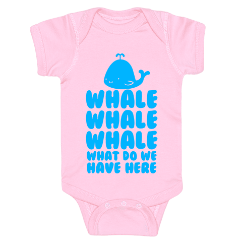 Whale Whale Whale Baby Onesy