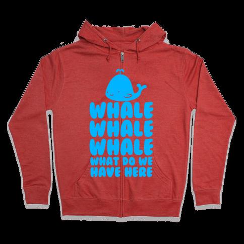 Whale Whale Whale Zip Hoodie