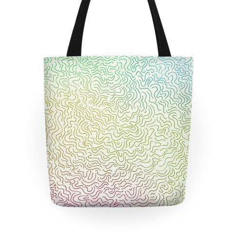 Doodle Lines Pattern Tote