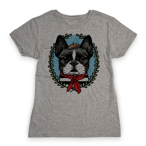 French Bulldog Illustration Womens T-Shirt