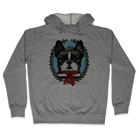 French Bulldog Illustration Hooded Sweatshirt
