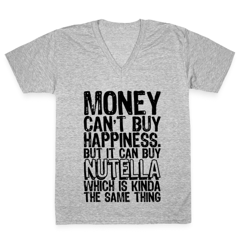 It Can Buy Nutella V-Neck Tee Shirt