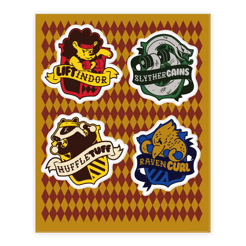 HogWeights House  Sticker/Decal Sheet