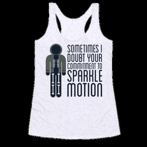Sparkle Motion Racerback Tank Top