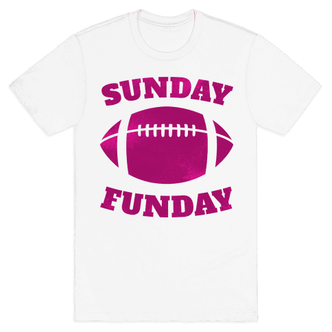 Sunday Funday (Pink) Mens T-Shirt