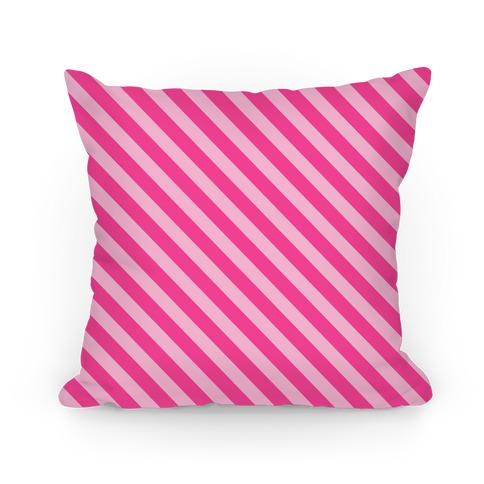 Pink Stripe Pattern Pillow