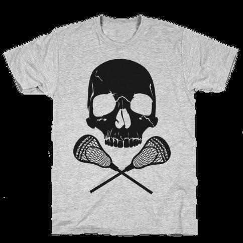 Lacrosse Bones Mens T-Shirt