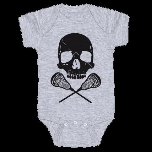 Lacrosse Bones Baby Onesy