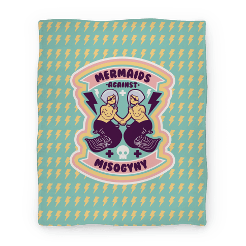 Mermaids Against Misogyny Blanket