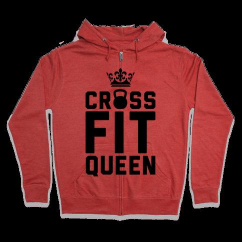 Crossfit Queen Zip Hoodie