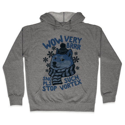 Winter Doge Hooded Sweatshirt