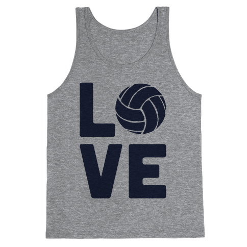 Love Volleyball (Athletic V-Neck) Tank Top