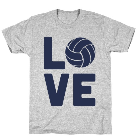 Love Volleyball (Athletic V-Neck) T-Shirt