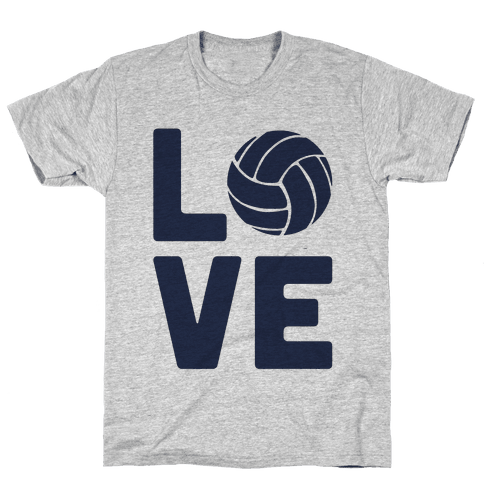 Love Volleyball (Athletic V-Neck) Mens T-Shirt