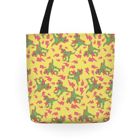 Shredding T-Rex Pattern Tote