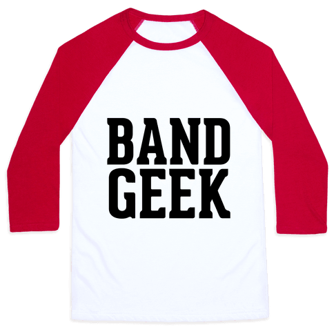 Band Geek Baseball Tee