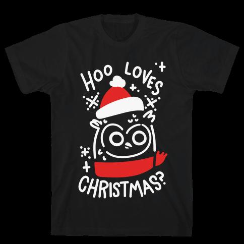 Hoo Loves Christmas? Mens T-Shirt