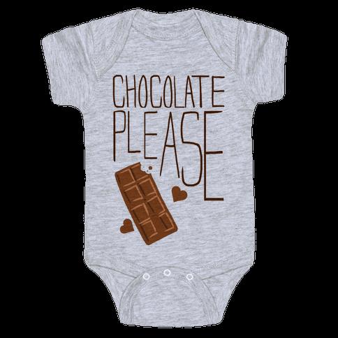 Chocolate Please (Tank) Baby Onesy