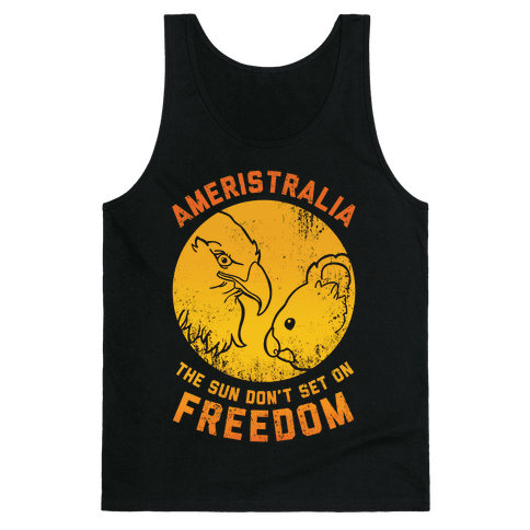 The Sun Don't Set On Freedom (Gold Ameristralia) Tank Top
