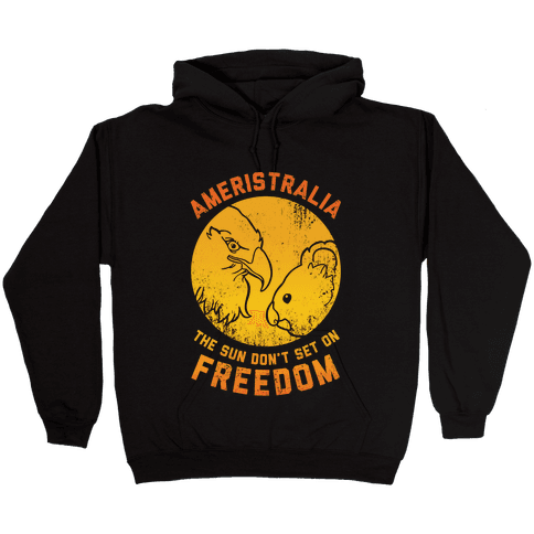 The Sun Don't Set On Freedom (Gold Ameristralia) Hooded Sweatshirt