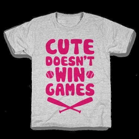 Cute Doesn't Win Games Kids T-Shirt