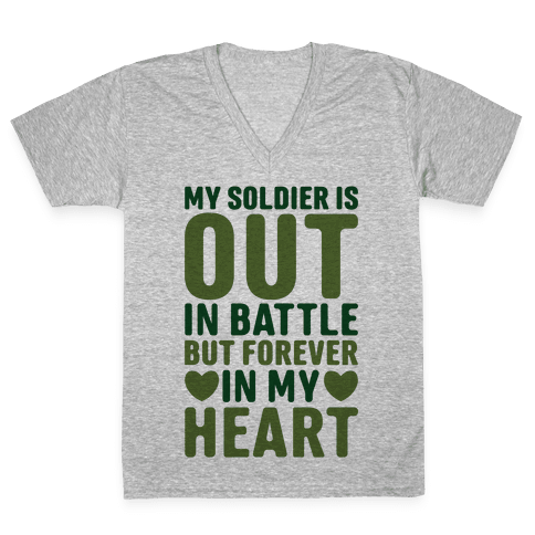 Out Soldier V-Neck Tee Shirt