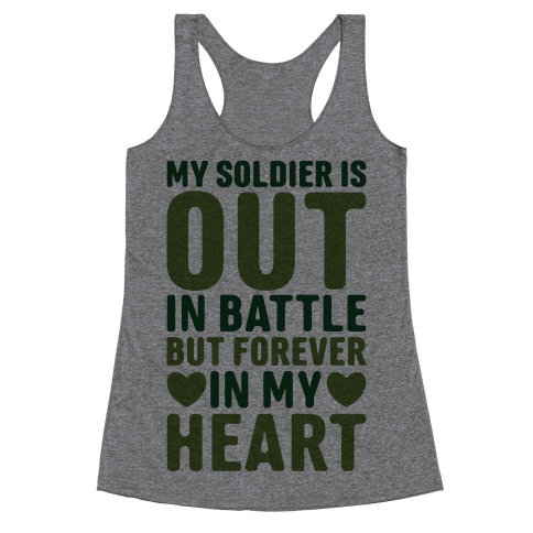 Out Soldier Racerback Tank Top