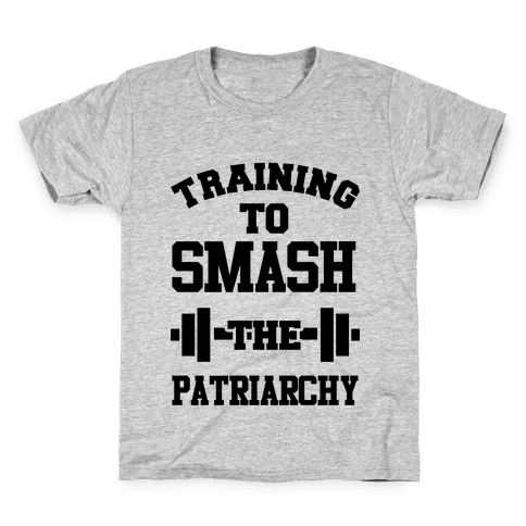 Training to Smash the Patriarchy Kids T-Shirt