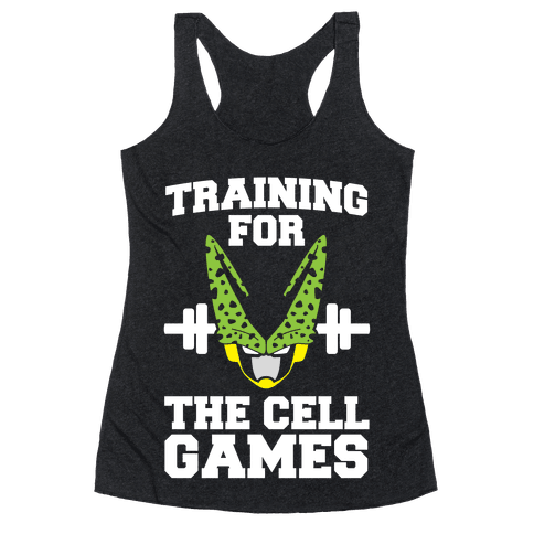 Training for the Cell Games Racerback Tank Top