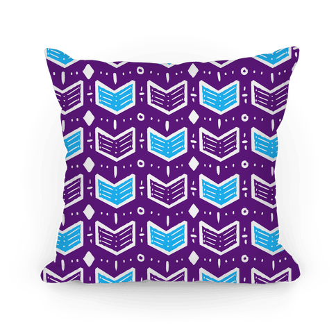 Purple and Blue Tribal Doodle Pattern