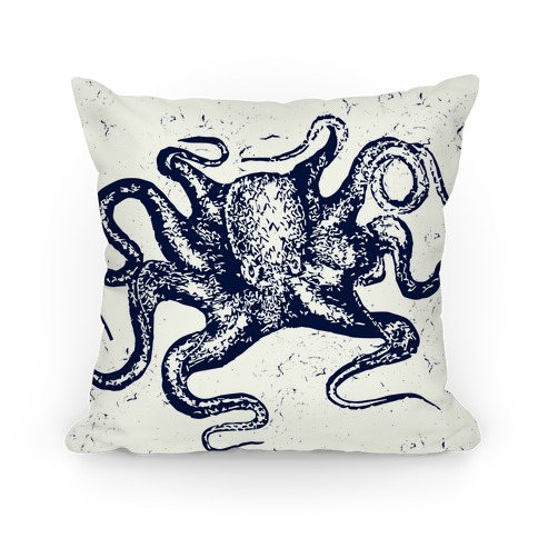 Vintage Octopus (Navy) Pillow