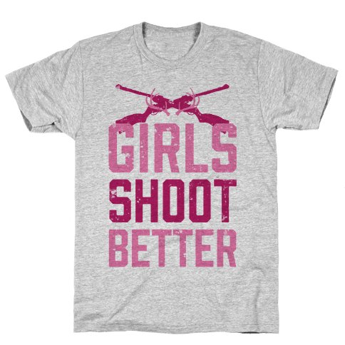 Girls Shoot Better (Rifle) Mens T-Shirt